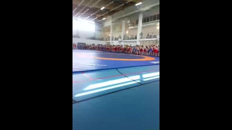 показательные выступления на турнире по греко-римской борьбе
