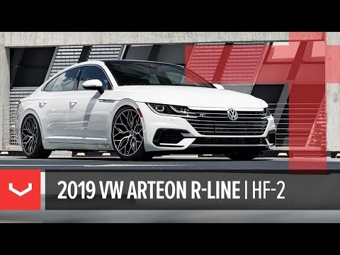 Vossen Hybrid Forged HF-2 Wheel | 2019 VW Arteon R-Line | Brushed Gloss Black