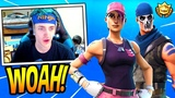NINJA REACTS TO NEW ROSE TEAM LEADER &amp WARPAINT SKINS! LEGENDARY Fortnite FUNNY &amp EPIC Moments
