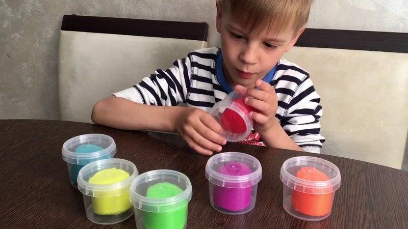 Тесто для лепки ПЛАСТИШКА / Распаковка / colors/ learn /native speaker russian