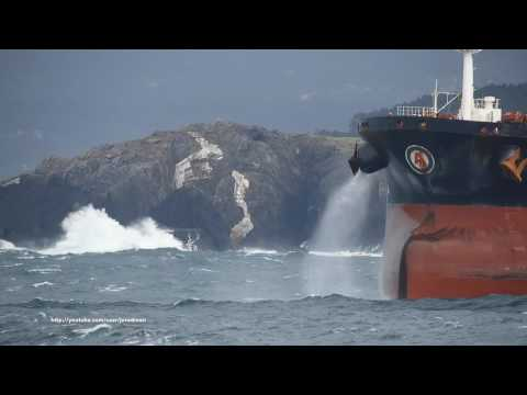 Crude Oil Tanker ALMI EXPLORER departs A Coruña [4K]