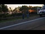 В Сети появилось первое видео с места крупной аварии с участием зерновоза и автобуса на Ставрополье