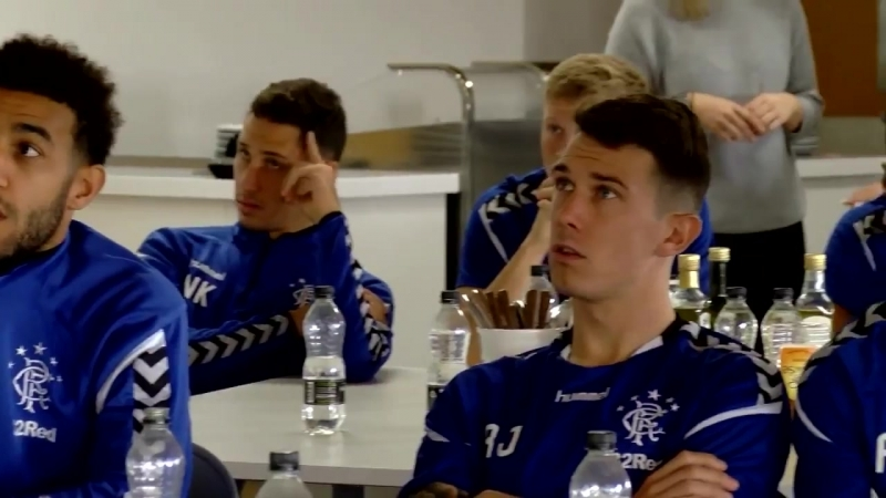 REACTION The squad sat down together to watch the @EuropaLeague draw as the Gers were drawn in Group G alongside Villarreal, Rap