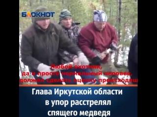 Сергей Левченко во время зимней охоты в упор выстрелил в медведя