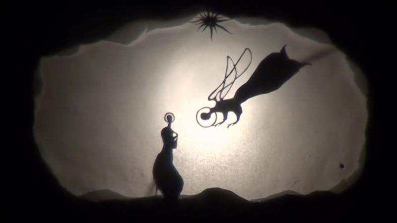 Фрагменты теневого спектакля Светланы Карюк по рисункам Юрия Виноградова