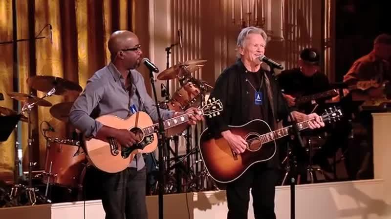 Kris Kristofferson Darius Rucker on their collaboration [Rehearsals] (21.11.2011)