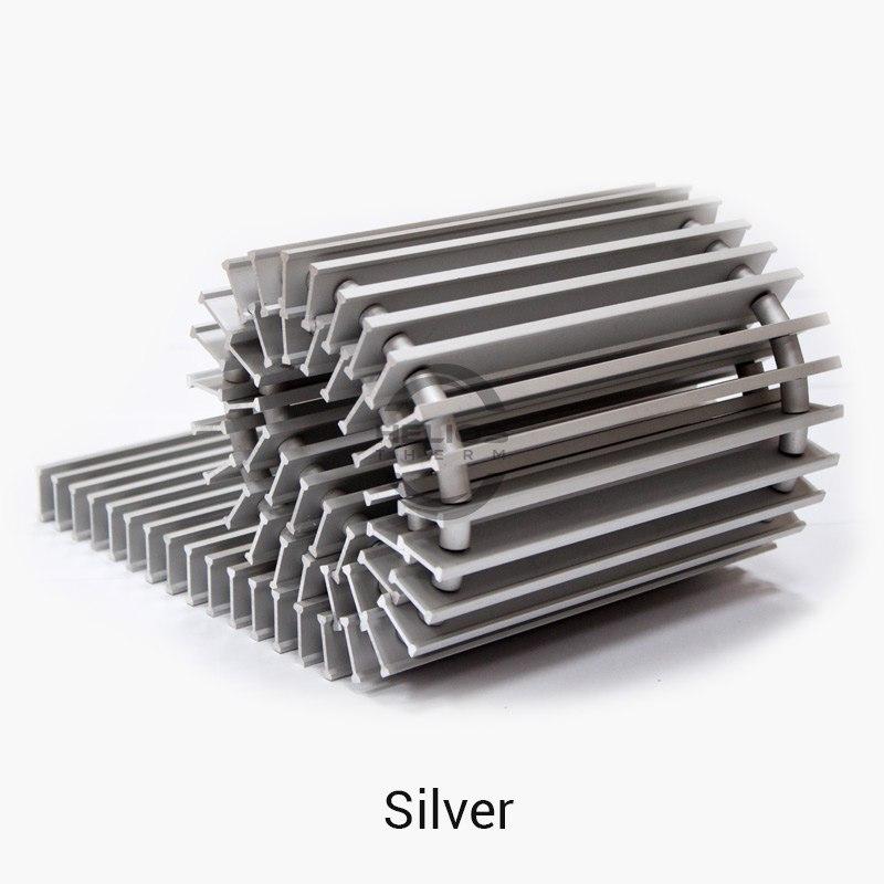 Цвет решетки для конвектора Helios Therm - silver