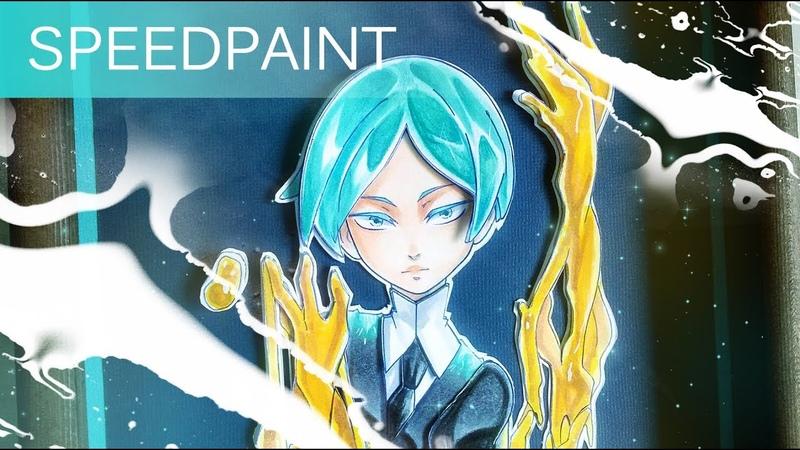 Speed Painting ┃ Paper Art┃Phosphophyllite 宝石の国