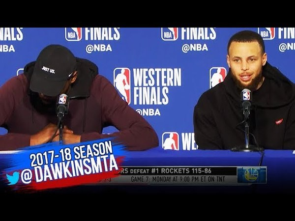 Stephen Curry Kevin Durant Postgame Interview Warriors Rockets Game 6 2018 WCF FreeDawkins