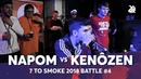 NAPOM vs KENÔZEN | Grand Beatbox 7 TO SMOKE Battle 2018 | Battle 4