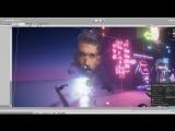 Unity 2018 HD RENDER PIPELINE - вечер неона 18+