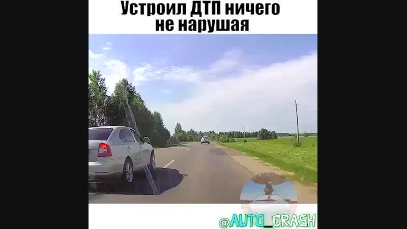 Как вам маневр водителя рено?