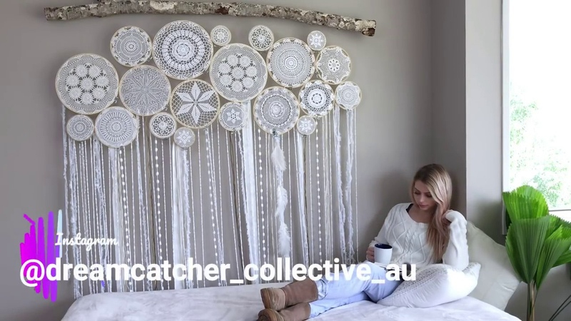 Crochet Dreamcatcher Wall Mural - Boho Decor