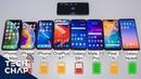 OnePlus 6T vs Mate 20 Pro vs Note9 vs Pixel 3 XL vs iPhone XS / XR BATTERY Test!   The Tech Chap