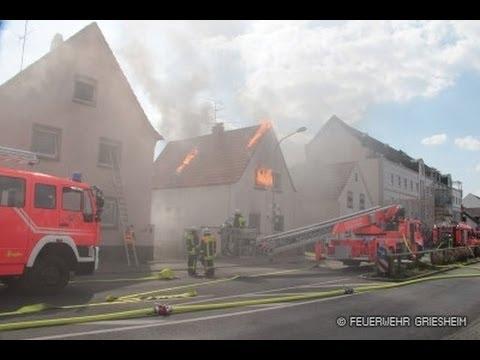 Показательные учения добровольной пожарной охраны. Грисхайм, 06.04.2014