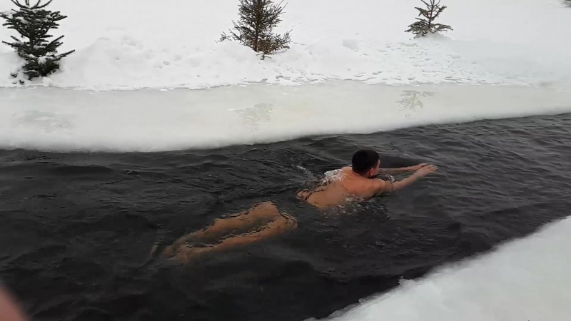 Winter bather or winter swimmer