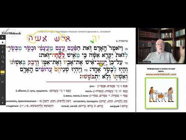 Библейский иврит для начинающих МУЖЧИНА И ЖЕНЩИНА Урок 7 продолжение