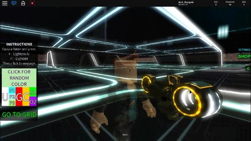 Lightcycle crashed CLU (roblox bugs)