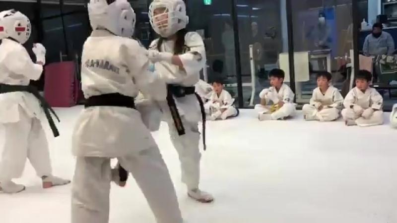 Жёсткий бой японских воинов на татами. Юцуки и Хэл спарринг - httpstengu.pro_