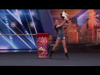 Украинские дрессировщицы на американском шоу талантов