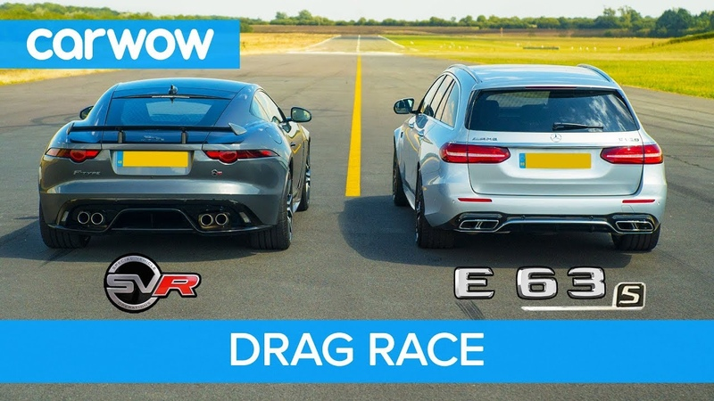 Jaguar F-Type SVR vs Mercedes-AMG E63 S - DRAG RACE, ROLLING RACE BRAKE TEST