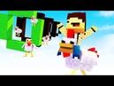 Нуб научился летать на курице в Майнкрафт?!