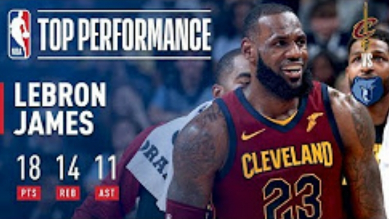 LeBron James Picks Up a Triple-Double (18 / 14 / 11) in Win Over the Grizzlies