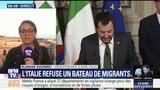 En Italie, Matteo Salvini refuse un bateau humanitaire charg