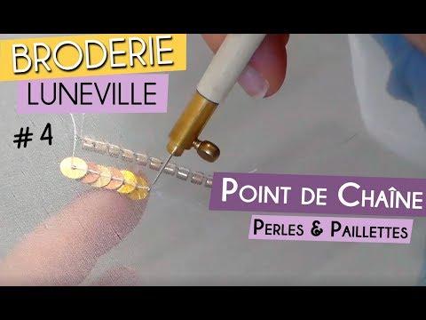 Broderie perlée de Lunéville : découvrez la technique pour broder des perles et des paillettes