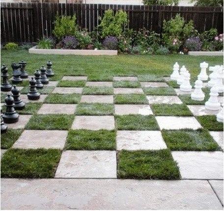 Шахматная доска на вашем участке