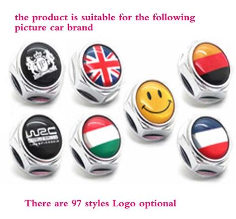 Болты крепления номерного знака с разными логотипами