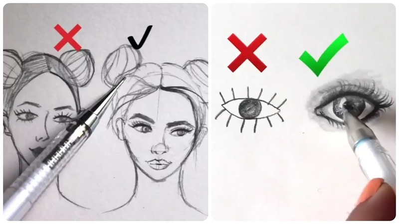 How to draw people face 1 How to Draw Easy Step by Step Eyes,Hair, Mouth, Nose!Art drawing tutorial