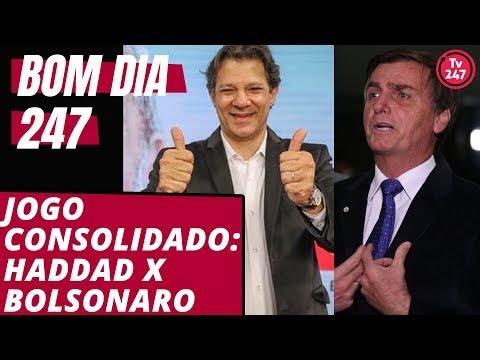 Bom dia 247 (16/9/18): Jogo consolidado entre Haddad e Bolsonaro