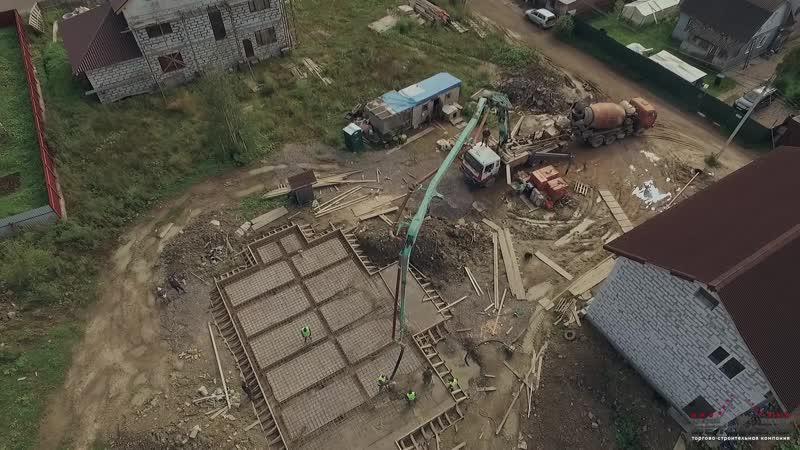Строительство фундамента плиты на нестабильных грунтах (пос. Володарский, Выборгский район)