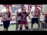 Наталья Сальникова до 52 кг приседает 210 кг в однослойной экипировке