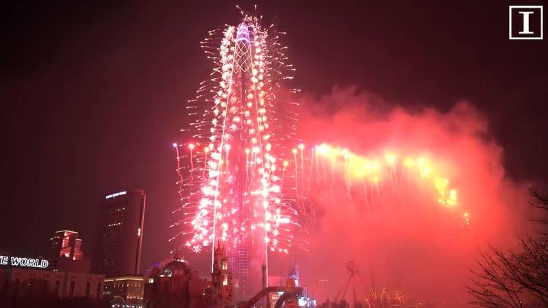 Церемония открытия Seoul Sky Небо Сеула башни 롯데월드타워 Lotte World Tower