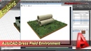 AutoCAD Exterior Rendering Grass Field Environment