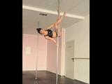 Pole Dance комбинация. Продвинутый уровень.