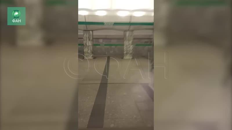 Остановивший работу «Приморской» бесхозный предмет сняли на видео
