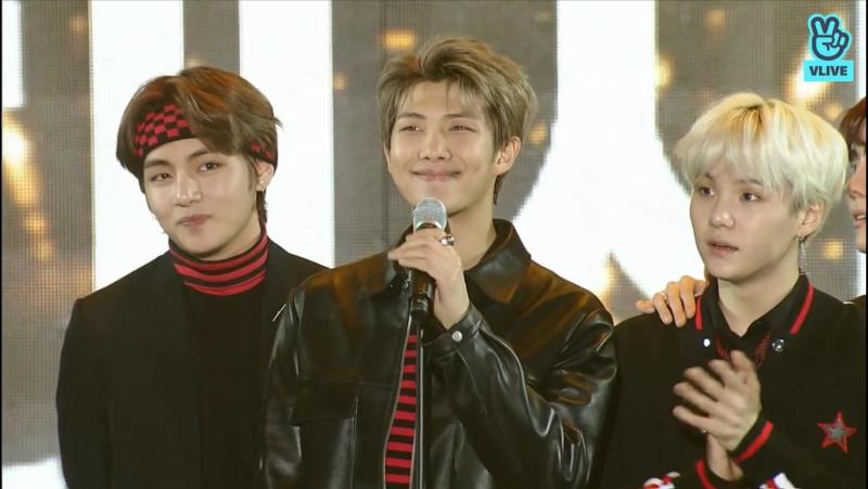 BTS at 27th Seoul Music Awards 2018 (Награда Десан)