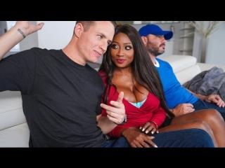Diamond Jackson - Eye on the Infield (Big Tits, Black Hair, Couples Fantasies, Ebony, Innie Pussy, MILF, Sneaky, Stepmom)