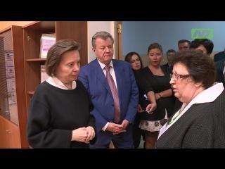 Наталья Комарова посетила первую гимназию
