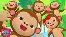 Five Little Monkeys Jumping on the Bed (3D) | Nursery Rhymes Kids Songs - ABCkidTV