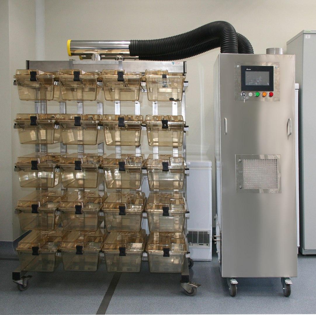 Система для искусственной вентиляции клеток с вентиляционным блоком ВЕНТ-БИО-1Ь