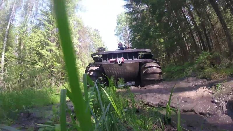 Вездеход BTX в лесу.