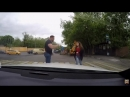 Девушка жестоко наказала автохама