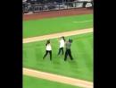 Диана Гэблдон на бейсболе