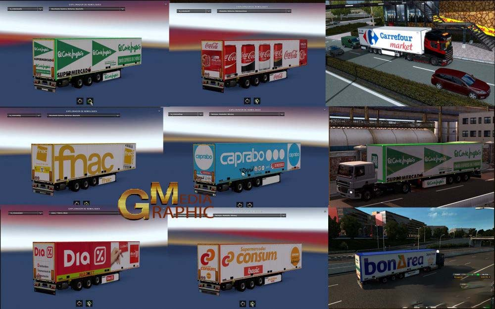 SPANISH SUPERMARKET AND INTERNATIONAL COMPANIES TRAILERS