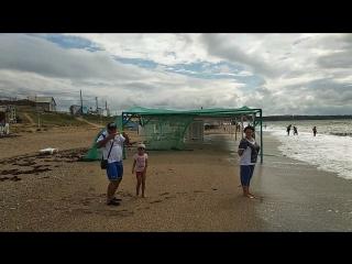 Пляж ЛЮБИМОВКА. Шторм. Море волнуется!