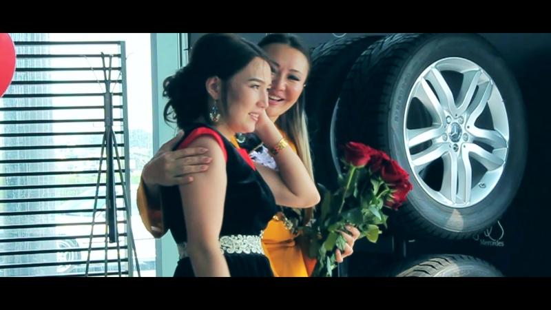 Подарок машины Мерседес Бенц от сетевой компании NL. Съемка рекламных роликов в Новосибирске